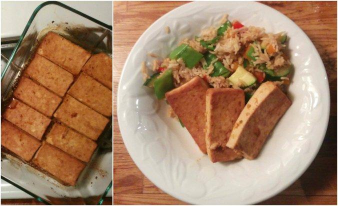 Tofu à l'orange - collage